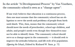 "From Feld's expose on ""Community Education,"" p. 55"