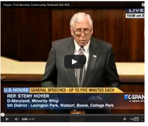 Watch Hoyer's speech by clicking HERE.