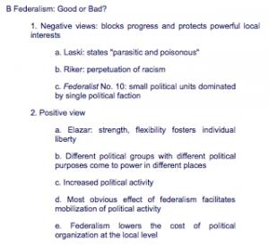 www.socialstudieshelp.com/APGOV_Notes_WeekThree(A).htm Federalism: Federalism in Practice