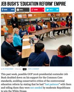 http://www.breitbart.com/Big-Government/2014/12/06/Jeb-Bush-s-Education-Reform-Empire