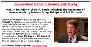 http://www.worldmag.com/2014/08/homeschool_leader_disavows_patriarchy