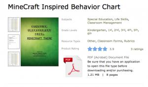 https://www.teacherspayteachers.com/Product/MineCraft-Inspired-Behavior-Chart-