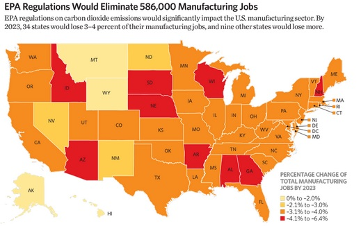 EPA Regs Could Cost Wisconsin Manufacturing Jobs Agenda - Us agenda map