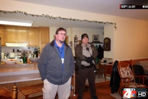 Garland County Deputy Sheriff Sgt. Michael Wright (left) led a gestapo-type raid of the Stanley family home on January 12, 2015 and kidnapped 7 children. Photo courtesy KARK4. -