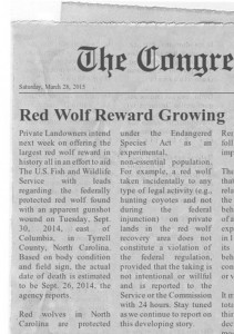 NC Red Wolf killing