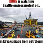 "<span class=""caps"">IRONY</span> is watching Seattle enviros protest oil…"