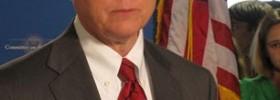 Sen. Jeff Sessions, speaking to the press. (Photo: Talk Radio News Service)